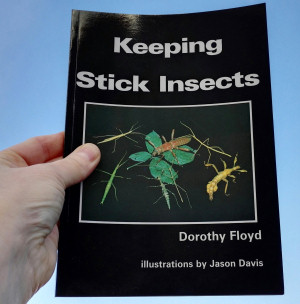 "Front cover of ""Keeping Stick Insects"" book"